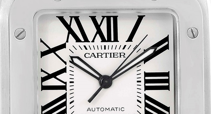 white cartier replica watch