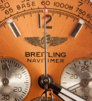 orange dial navitimer imitation watch with chronograph