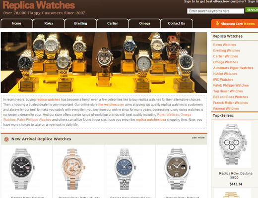 Discount Replica Watches Online Store