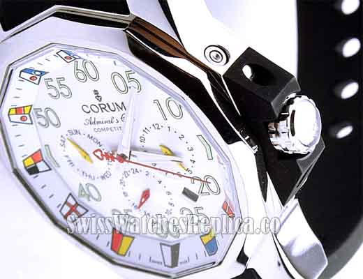 Corum White Admirals Cup dial