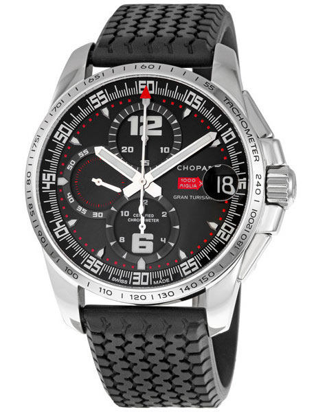 black chopard chronograph genuine watch