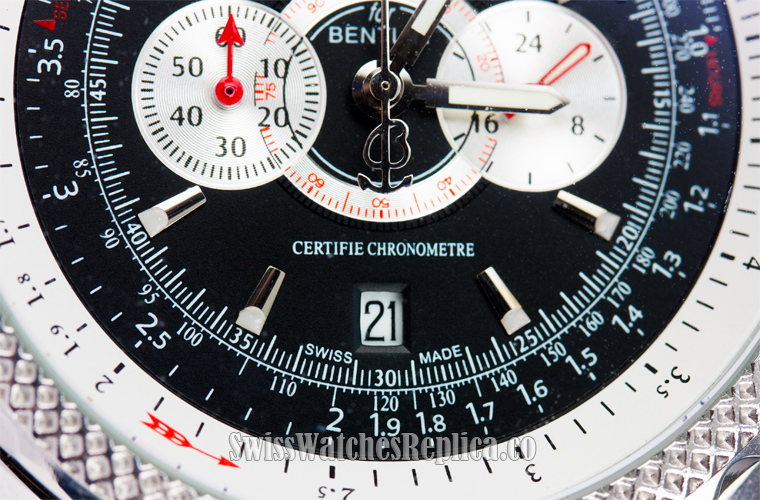 Black dial Fake Breitling Watch date window