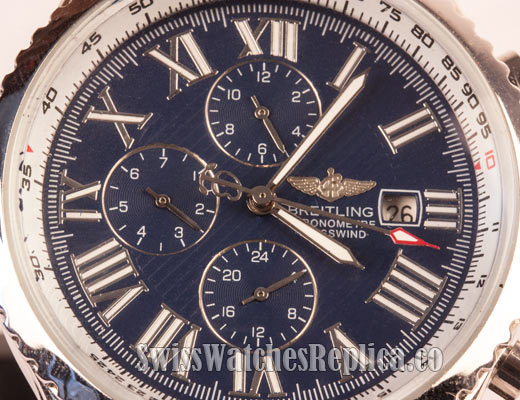 Blue Chrono breitling watch dial