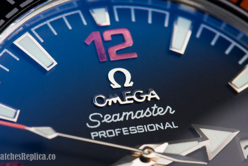 fake Omega watch dial closeup image