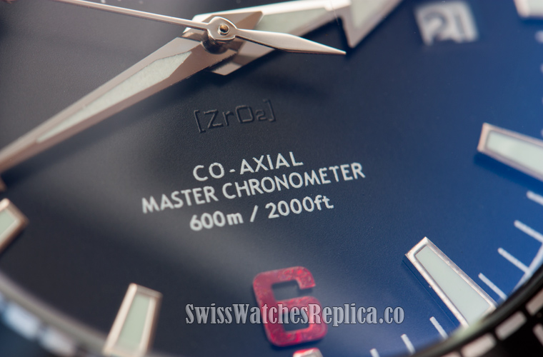 co-axial Master chronometer markings on fake omega watch dial